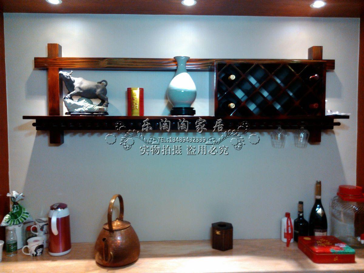 Подставка для вина Стена монтируется деревянные стеллажи настенные вино стекла стойки винный кабинет винный бар, Винный стеллаж древесины может быть на заказ шкафы вина
