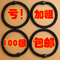 韩版高弹力发圈无缝头绳发绳黑扎头发耐用橡皮筋简约头花发饰包邮