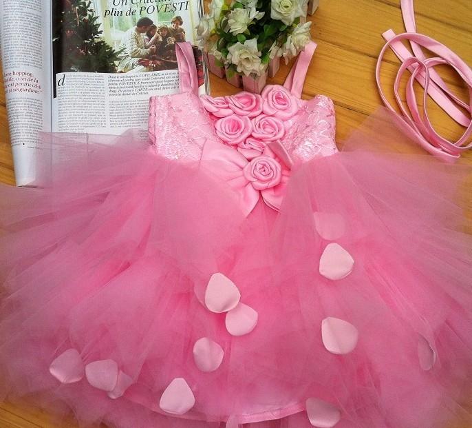 Детская одежда для танцев Ремень платье Цветочница платье pettiskirt юбка пачка принцесса платье цветок девочки платья 3 цвета Факультативного Девушки Красный цвет