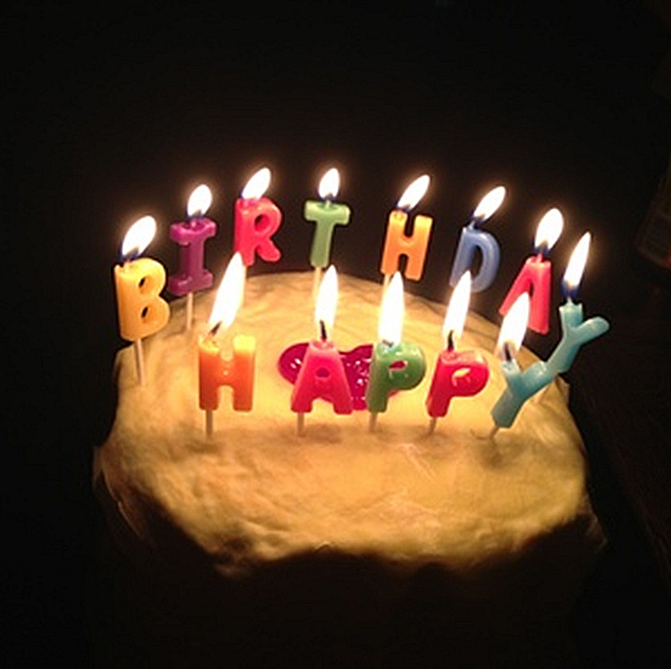 Happy Birthday Candles Creative Romantic Surprise Gift Alphanumeric Wholesale Courtship Party
