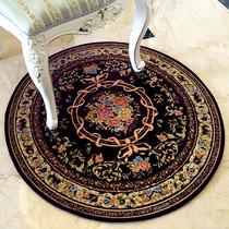 欧式圆形地垫书房电脑椅转椅垫吊椅吊篮脚垫摇椅美式客厅卧室地毯
