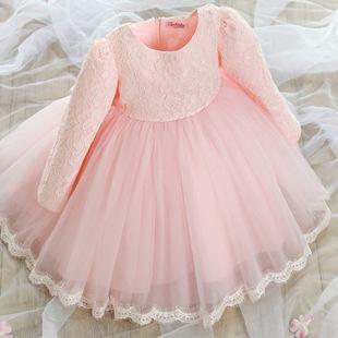 童装礼服女儿童公主裙女童春装连衣裙宝宝蕾丝裙子韩版夏装蓬蓬裙