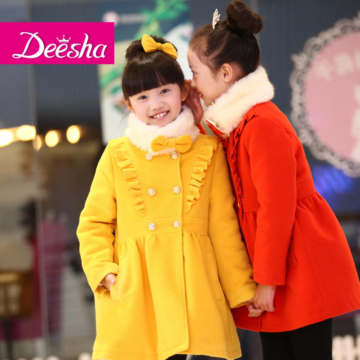 Пальто детское DEESHA 1219234 2012 Девушки Зима Смешанная ткань С подкладкой из хлопка Повседневный стиль