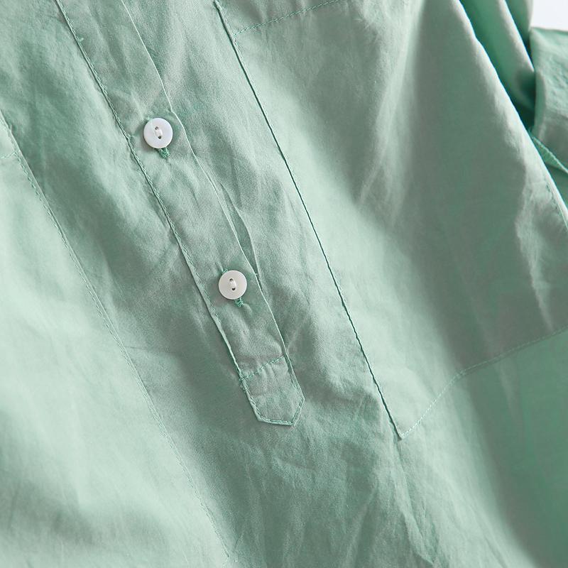 женская рубашка 2012 WC1270 Повседневный стиль Длинный рукав Однотонный цвет Лето 2012 О-вырез Другой тип застёжки