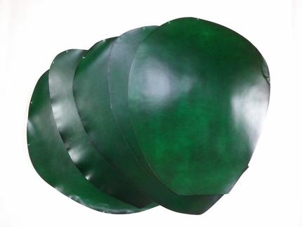 日本 小川马臀皮料 水染綠色 非透染