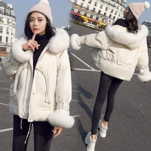 加厚小个子棉衣2018冬季大毛领chic显瘦短款女外套棉服潮
