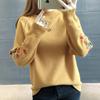 秋冬套头毛衣女宽松百搭绣花打底针织衫学生线衫外套上衣