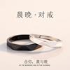 情侣戒指纯银一对男女个性简约对戒日韩潮人学生原创小众设计素戒
