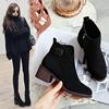 靴子女短靴2018秋冬高跟粗跟ins马丁靴女短筒网红瘦瘦靴棉鞋