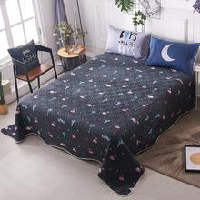 夹棉加厚床单单件床盖全棉铺盖1.8m秋冬季款纯棉被单女男单人双人