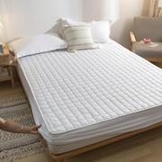 白色酒店宾馆席梦思保护套磨毛夹棉单件床笠防滑可固定床垫套加厚
