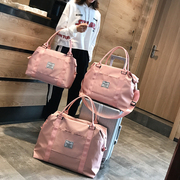 网红旅行包女手提行李袋女大容量可爱小短途轻便防水学生潮包