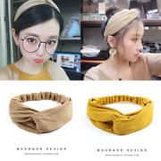韩国ins针织复古超仙发带日韩头箍宽百搭发箍韩式头饰