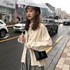 秋冬女装2018气质纯色单排扣翻领针织开衫网红毛衣外套女