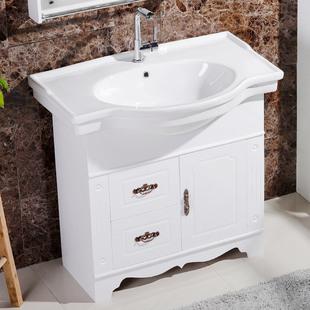 浴室柜组合落地式洗手盆柜小户型卫生间洗漱台洗脸盆柜卫浴柜pvc