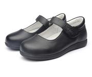 斯乃纳童鞋女童皮鞋学生真皮头层牛皮公主演出黑单鞋SX166942