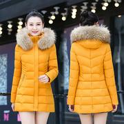 冬装棉袄女2018羽绒棉服中长款百搭棉衣加厚外套大码