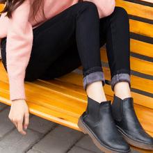 冬季高腰黑色加绒加厚牛仔裤女2018小脚弹力显瘦带绒外穿