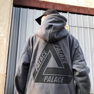 PALACE 18SS 背后大三角LOGO 摇粒绒运动套头卫衣帽衫男女潮