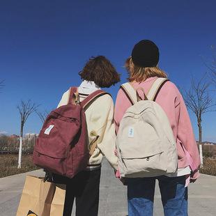 书包女ins高中初中学生大容量时尚帆布背包原宿ulzzang双肩包