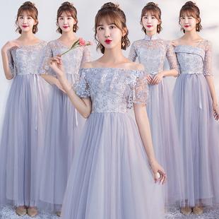 伴娘礼服女2019夏季伴娘服仙气质姐妹团裙毕业礼服女简单大方