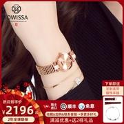 瑞士手表女款品牌jowissa2021镶钻时尚防水玫瑰金石英表