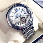 瑞士男士全自动镂空机械表防水日月相大气时尚商务休闲青少年手表