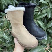 斯乃纳童鞋2020冬款SP0460038女童时尚舒适靴子简约休闲