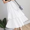 雪纺蛋糕裙搭配上衣半身裙长款遮小腿多层次女夏a字很仙的沙滩裙