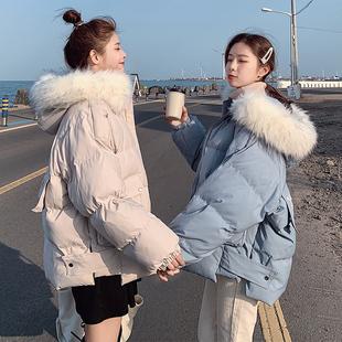 2018冬季东大门加厚棉衣女中长款棉服学生面包服ins棉袄