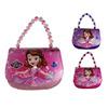 苏菲亚公主亮皮卡通可爱儿童手提包闪粉漆皮小孩斜挎包4-5-6-7岁