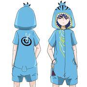 睡衣六七青少年日系夏季短袖纯棉刺客伍男女卡通动漫连体儿童短袖