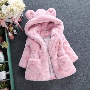 3儿童4冬天衣服秋冬装女童棉衣外套7-8加绒加厚5小孩6女孩棉袄9岁