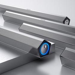 飞利浦SPA520S 93笔记本电脑音响台式家用桌面重低音炮便携蓝牙USB供电带WWW.OB.COM 长条有源影响喇叭3D环绕