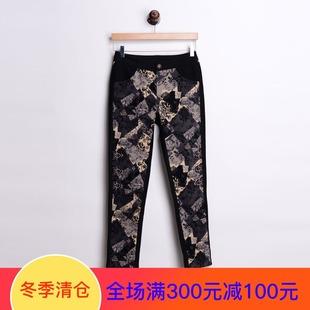2017年秋冬装女士裤子时尚简约百搭显瘦长裤潮LE49