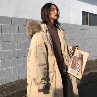 棉服女2018冬季ins面包服过膝外套中长款棉袄学生羽绒棉衣潮