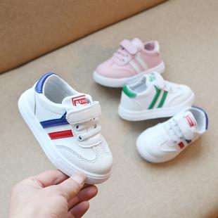 婴儿学步鞋软底女宝宝单鞋1-3岁春季透气不掉鞋2019男童鞋子