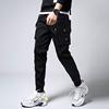 冬季黑色工装裤男士青少年小脚哈伦裤潮男装运动裤男裤子