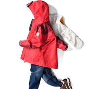 汉邦尚品儿童冲锋衣女 三合一可拆卸两件套加绒加厚防风连帽外套