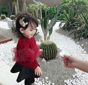 香港靓妞女童连衣裙2018秋冬装小女孩宝宝超洋气新年公主裙子