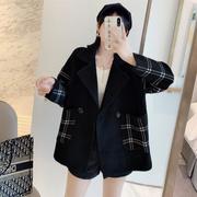 2020秋冬装韩版女装秋季长袖中长款针织衫开衫毛衣双面呢外套