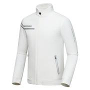 高尔夫男装衣服 秋冬季外套防风衣防水长袖服装上衣黑白色