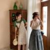 花栗鼠小姐 白色吊带蕾丝连衣裙女2019夏季显瘦高腰裙子