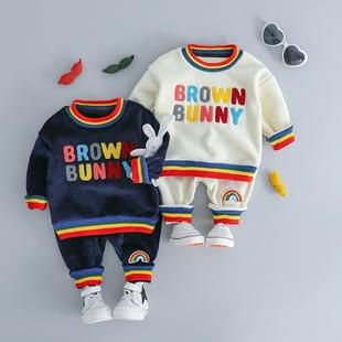 0女宝宝1男8婴儿3秋季10衣服装4套装5冬装6加绒7幼儿2岁半12个月9
