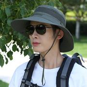 渔夫帽男士防晒遮阳帽子夏季旅游太阳帽户外登山凉帽爸爸钓鱼帽子