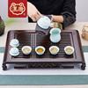 汉唐茶盘 实木茶台 家用抽屉式储水茶具套装小茶海简约功夫茶托盘