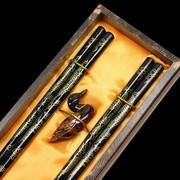 工艺筷子两双装筷托礼盒筷子婚庆回礼中国特色出国送老外筷子
