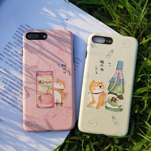 原创苹果xsmax柴犬手机壳6s日系iphone7保护套8plus情侣ins清新xr