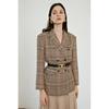 格子西装外套女春季复古气质英伦风格纹设计感休闲西服套装上衣
