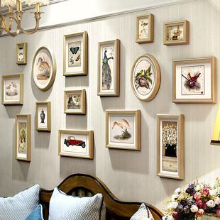 美式客厅照片墙组合挂墙相框相片墙餐厅创意情侣结婚礼物卧室装饰